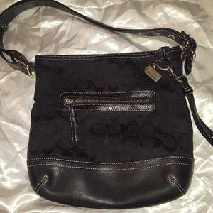 Women's black Coach purse